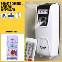 Manufacturer battery automatic perfume dispenser wall hanging aerosol dispenser with remote control