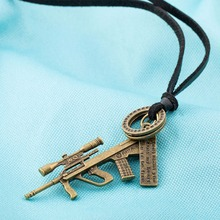 16.80 g Sniper Rifle Cross Letter Magnetic Pendant Necklace JLZAFSN355-A