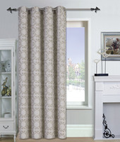 1Pc Faux Linen Jacquard Blackout Window Curtains for the Living Room with 8 Grommets