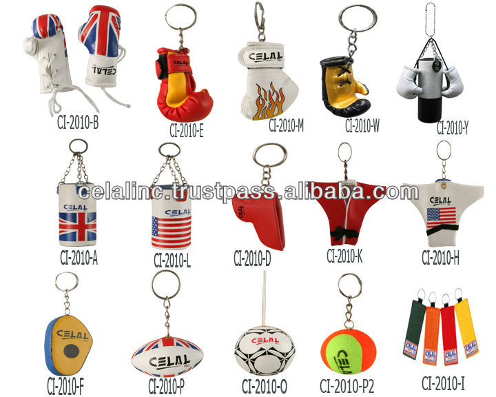 Mini boxing glove key chains
