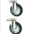 Black Rubber casters garbage bin wheel trolley wheels for dustbin