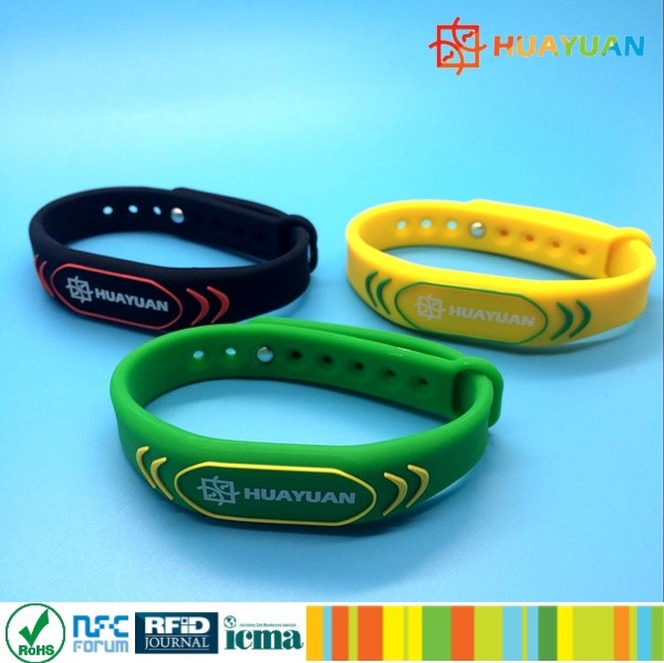 gym swimming pool fitness rfid smart bracelet silicon ntag213 nfc wristband