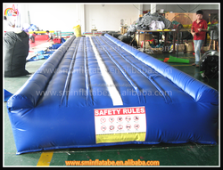 Outdoor inflatable air running mat,inflatable jumping mat,inflatable gymnastics track