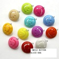 15mm Cartoon smiling face buttons baby button accessories wholesale 10 color