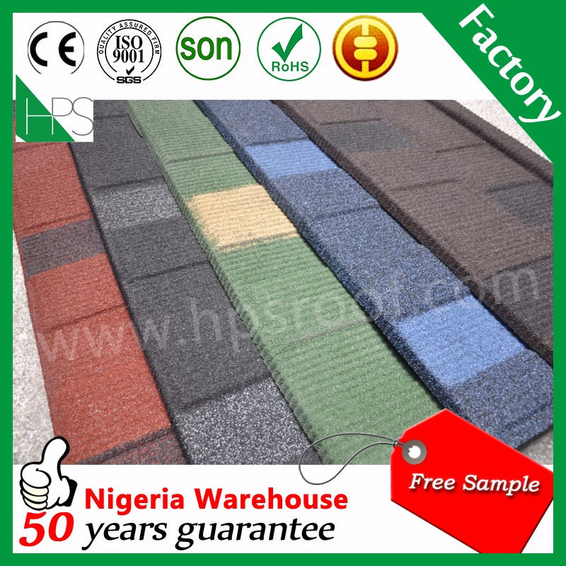 Stone chips coated steel tile/guangzhou building material/metal roofing factory price
