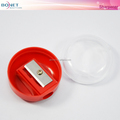 BSP0009 Round Shape Red Plastic Make-up Sharpener