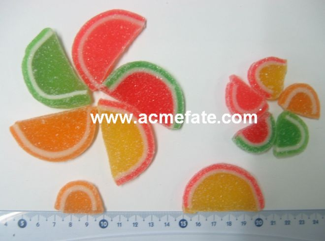 Watermelon confect Jelly Fruit Slice soft candy slice