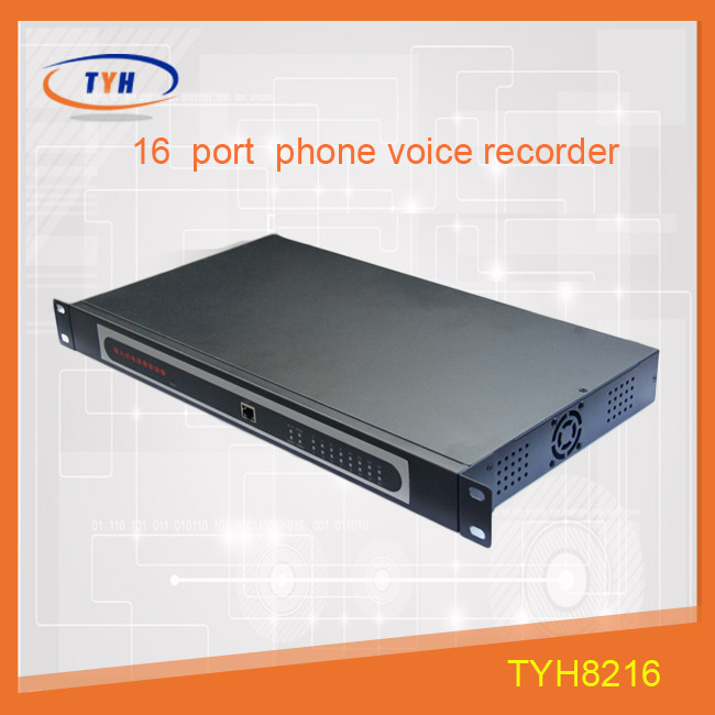 16 channel telephone digital voice recorder /telephone call recording device with RJ45 port
