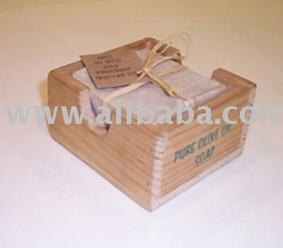 Olive Oil Soap In A Wooden Box