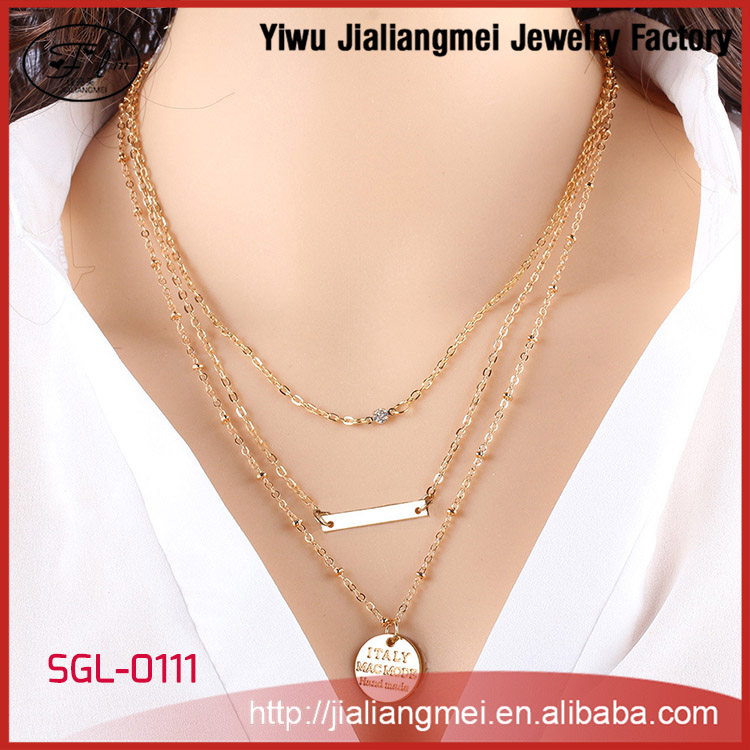 Fashion Jewelry Gold Coins Necklace Accessories For Women