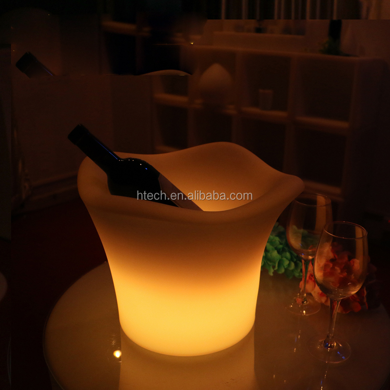 Cool Party LED Ice Bucket Double Layer Event Night Club KTV LED Beer RGB Color-Changing Flashing Light ice Pail Wine ice Buckets