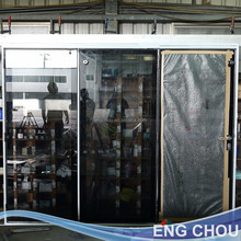 Superhouse hot sale stainless steel folding glass door Taiwan