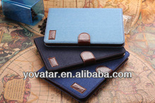 2014 new Factory price! retro Jean Leather Case for iPad mini