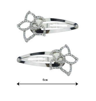 2014 Factory Price Fashion Hair Jewelry Clip Hair,Flower Metal Snap Hair Clips for Promotional Gift