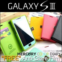 Mercury leather wallet case for samsung galaxy S3 (I9300 i747 T999)
