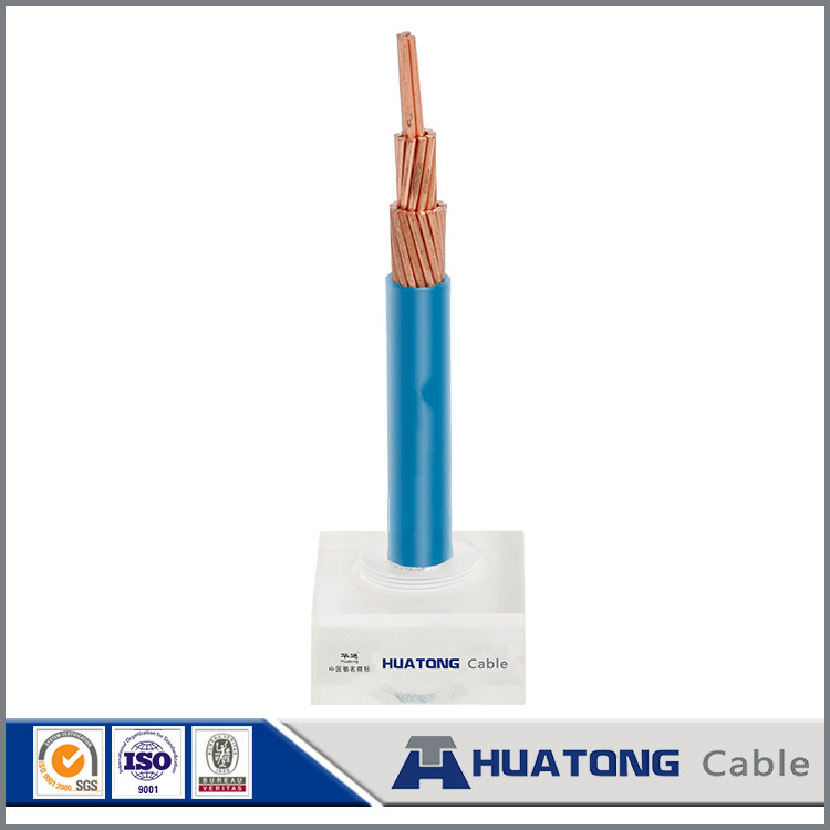 Solar power system 450 / 750 V PVC insulated copper electric wire for building use