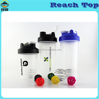 400ml PP Bpa Free Plastic Sports Shake Water Bottles With Blending