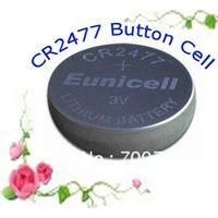 mercury free 3 v cr2477 lithium button cell battery