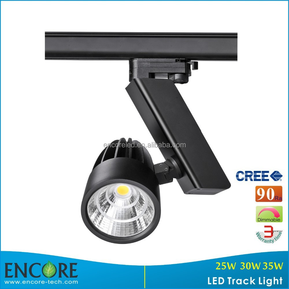 American ETL DLC 15W LED Track Spotlighting with 3-Phase Track Adaptor or Single Phase Track Adaptor
