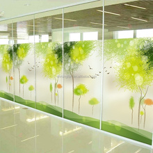 Decorative Self Adhesive Static Cling Frosted Window Film, Custom Sticker Living Room Balcony Frosted Glass Decals