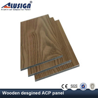 Alusign one-stop manufacture wooden finish insulated acp panel aluminum composite panels