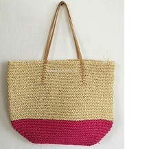 Simple And Nice Shopping Promotional Straw Beach Paper Tote Bag