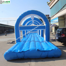 Hot sale 20m long inflatable water slip and slide for kids and adults