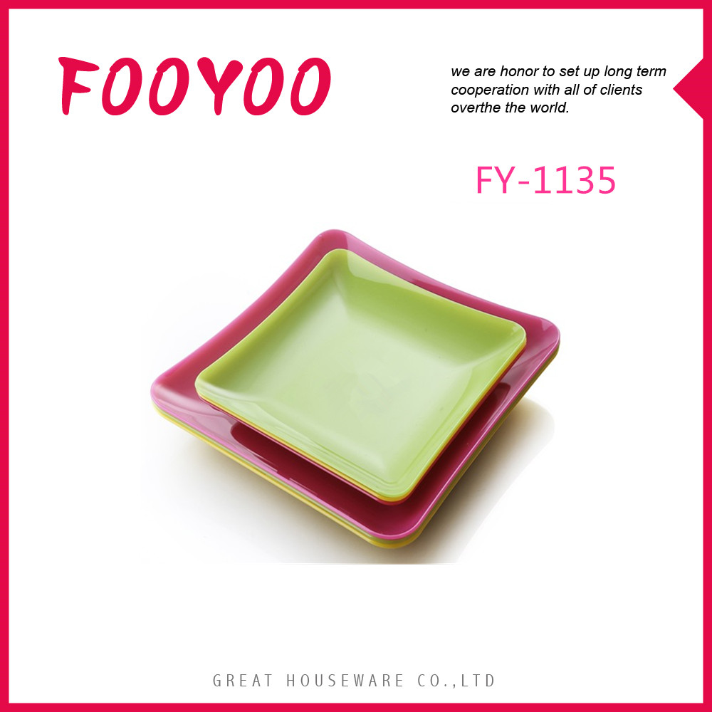 FOOYOO FY-1135 LARGE DECORATIVE PLASTIC FRUIT PLATE