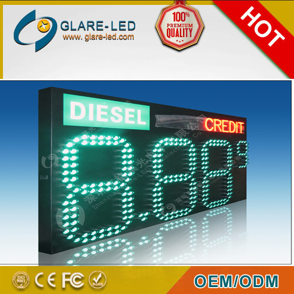 Oil/fuel station outdoor led gas price sign/ screen /panel /display 42 48 inch