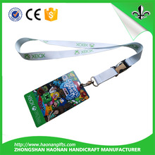 Fashion polyester lanyard with ID badge holder no minimum order for event/meeting