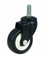 Tread stem adjustable caster for pu