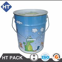 18L tin can for toy/dry goods/base ball/golf/tennis/clothes, sport bucket