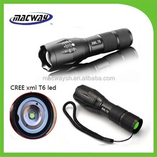 Aluminum Strong bright tactical T6 led flashlight