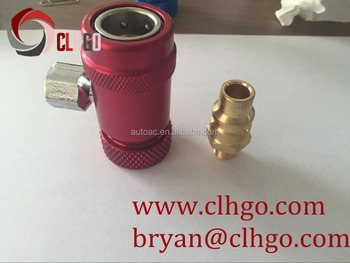 R1234yf Male Female Manual quick Couplers 1/4 SAE AC Pressure Refrigeration Quick Coupler R1234YF Quick Coupler/ connector