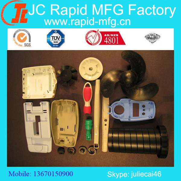 various plastic injection molded parts