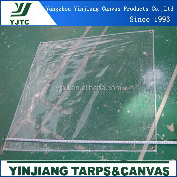 0.5mm transparent pvc tarpaulin cover roof cover transparent plastic sheet