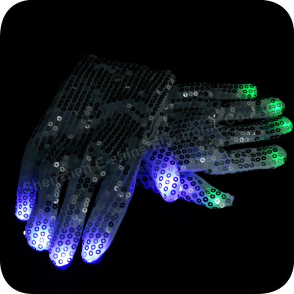 Cheap price Led Flashing Sequin Gloves