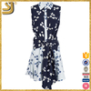 New Arrival sleeveless floral designer shirt dresses for women