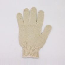 Excellent quality customized cotton knitted gloves black pvc dot