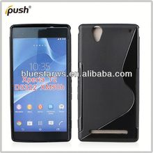 2014 new design tpu gel case waterproof case for sony xperia t2 d5322 xm50h