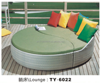 The European and American style outdoor wicker lay the cane makes up outdoor patio sofa bed sofa bed