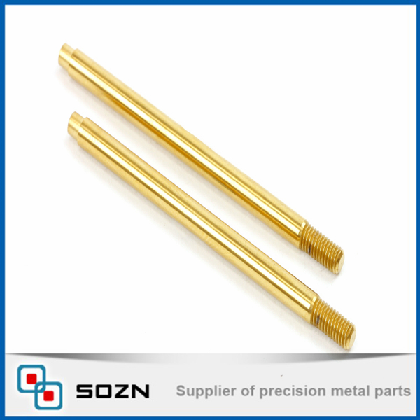 auto lathe machined customized brass pin knurling hollow pin