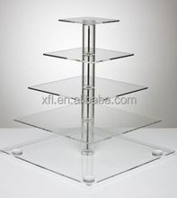 High Quality Hot Sell Rectangular Tiered Cake Stand/Acrylic Wedding Cake Display Stand/Wedding Cake Display