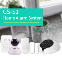 2016 new product !!!chic design wireless WIFI GSM alarm system support gas detector