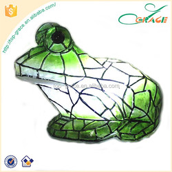 garden LED sculpture clear resin frog clear resin figurine