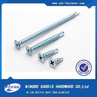 HEX WASHER HEAD TYPE AB WHITE ZINC PLATED SELF TAPPING SCREWS