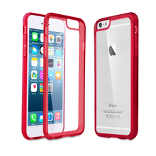 C&T Hybrid Case One Piece Colorful TPU Bumper + Clear Hard PC Back Cover Protective Case for iPhone 6s