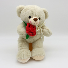 Japanese Bear Custom Valentine's Gift Plush Stuffed Teddy Bear With Flower