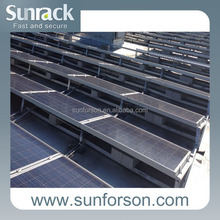 Roof, thin film mounting system
