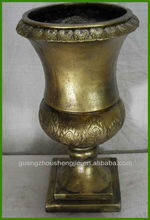 bronze fiberglass planter flower pot